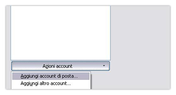 Thunderbird nuovo account di posta