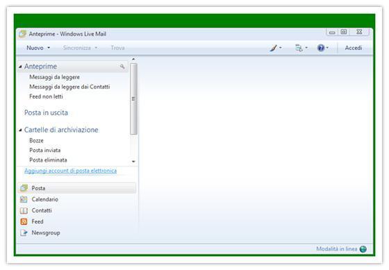 Windows live mail aggiungi nuovo account di posta
