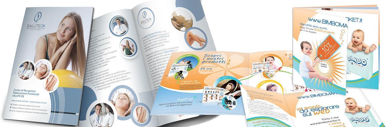 Progettazione grafica brochure e cartelline pubblicitarie